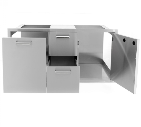 EPIC 350H Series 42-Inch Stainless Steel Door, Double Drawer & Roll-Out Trash Bin Combo