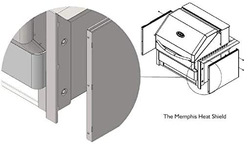 Memphis Grills Built-In Pro And Elite Models Heat Shield Kit