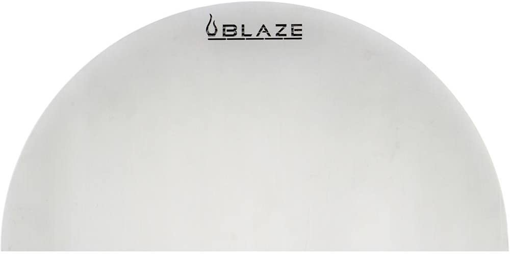Blaze 20-Inch Kamado Stainless Steel Half Round Heat Deflection Plate