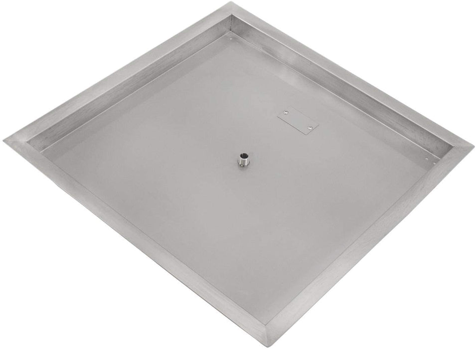 Firenado Stainless Steel 30-Inch Drop-In Square Burner Pan