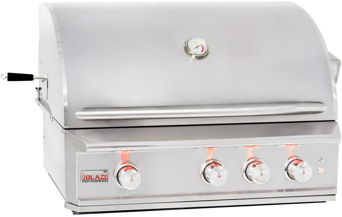 Blaze Professional 32-Inch 3-Burner Natural Gas Grill with Cart and Cover