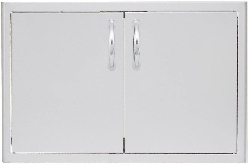 TRU 7ft Bar Island w/ Stainless Steel 32-Inch Double Access Centered Door Cutout