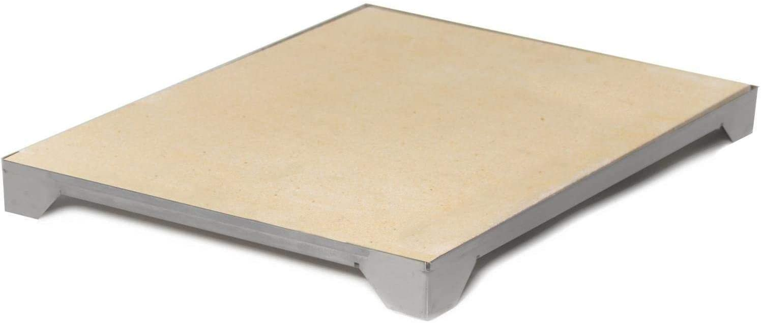 Blaze Ceramic Pizza Stone With Stainless Steel Tray (14 3/4 Inch)