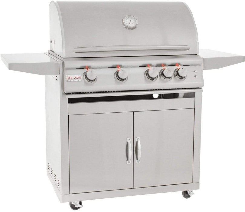 Blaze 40-Inch 5-Burner LTE Built-In Liquid Propane Gas Grill with Cart
