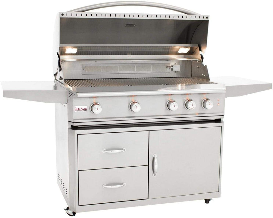 Blaze Professional 44-Inch 4-Burner Natural Gas Grill with Cart and Cover