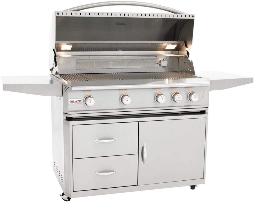 Blaze Professional 44-Inch 4-Burner Liquid Propane Gas Grill with Cart and Cover