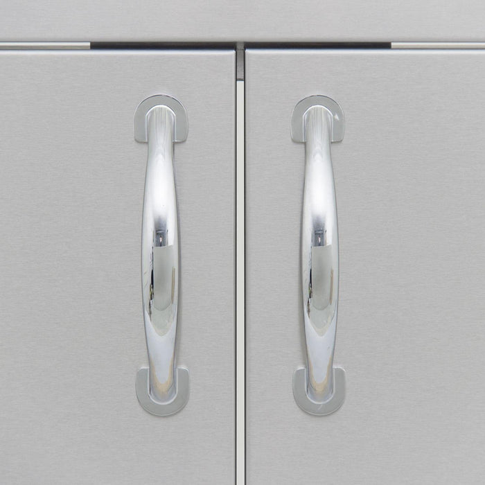 TRU 7ft Bar Island w/ Stainless Steel 32-Inch Double Access Left Hand Door Cutout