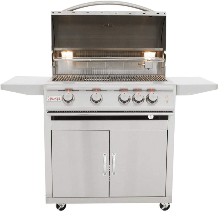 Blaze 40-Inch 5-Burner LTE Built-In Natural Gas Grill with Cart and Cover