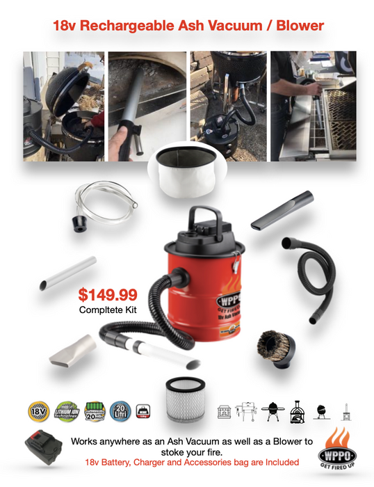 WPPO LLC 18V Rechargeable Ash Vacuum