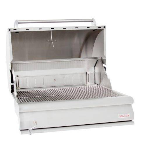 Blaze 32-Inch Stainless Steel Built-In Charcoal Grill With Adjustable Charcoal Tray