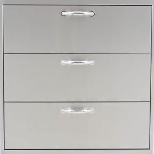 Blaze Stainless Steel 30-Inch Triple Access Drawer