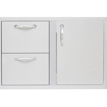 Blaze Stainless Steel 32-Inch Access Door & Double Drawer Combo