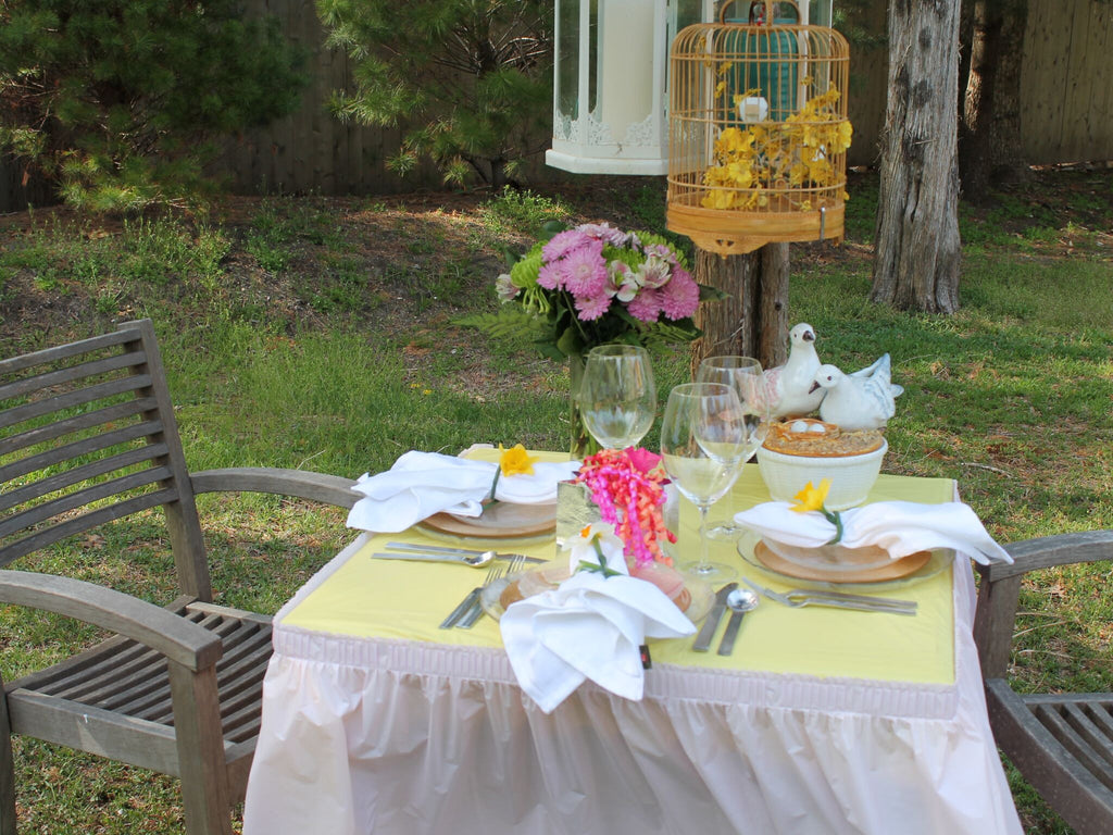 Design Tablecloth Ideas creative tablecloth ideas from tracey mullikin tableskirts and more mothers day