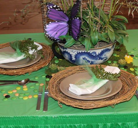 Rainforest Theme Party Table