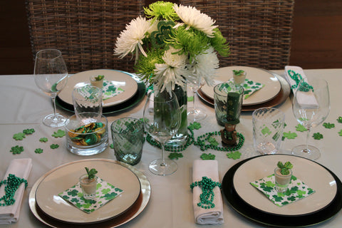 St. Patrick's Party table