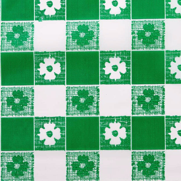 green gingham pattern tablecloth