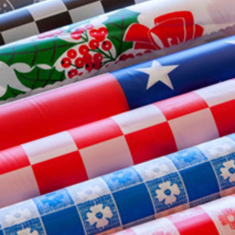 Banquet Tablecloth Rolls - Themed Prints - 100' & 300' rolls