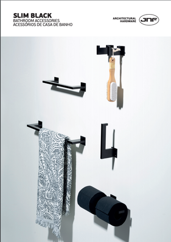 Slim Black Bathroom Accessories by JNF