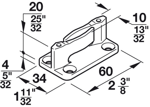 Picture of Hawa Floor Guide, With Zero Clearance, For Screw Fixing