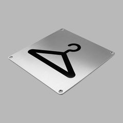 d line Stainless Steel Pictogram - Knud Holscher Collection
