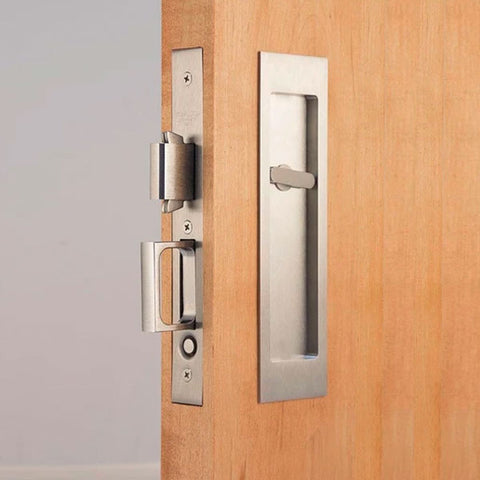 Picture of Accurate Pocket Door Privacy Lock Set with Rectangular Flush Pulls 2002CPDL-5