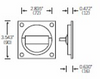 FSB 42 4203 Flush Ring for Passage Doors