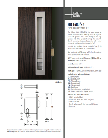 Picture of HB 1480 Large Pivot Door Privacy Set