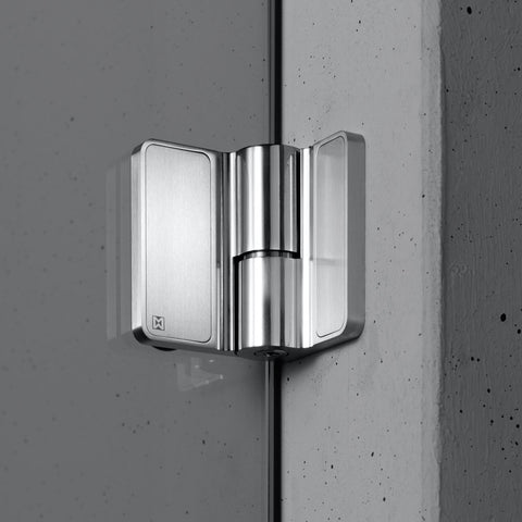 Picture Of Spirit Shower Door Hinges   Wall Mounted