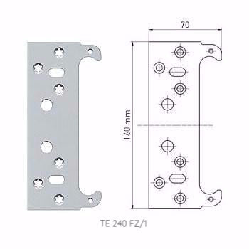 Picture of Fixing Plate for Casing Frames for Tectus Concealed Hinges
