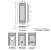S2002B Pocket Door Flush Pull - Blank / Passage