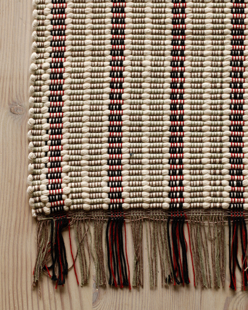 Lostine stripe cotton rag rug usa