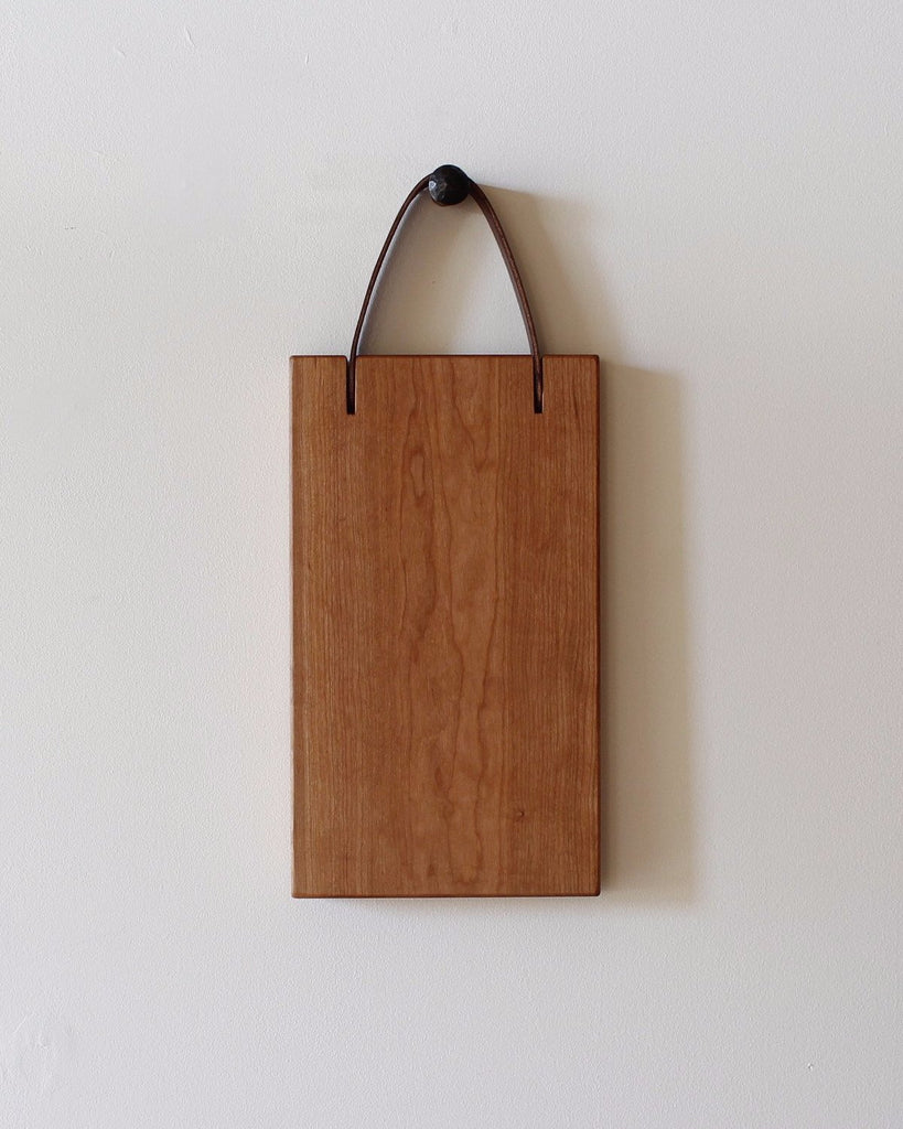 Lostine 8 x 14 cherry and leather cutting board