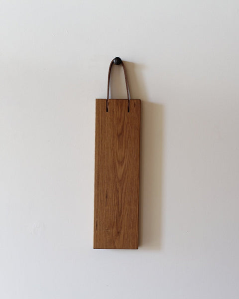 lostine franklin cutting board 6 x 20 oak and leather