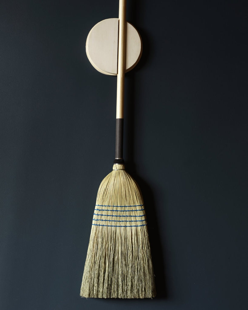 Lostine barn broom and broom holder