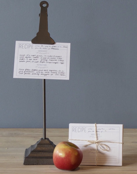 Lostine Clip Stand and recipe cards