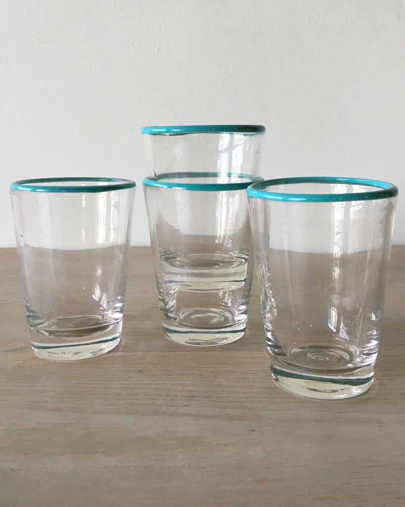 Blue Color Pop Juice Glasses S/4