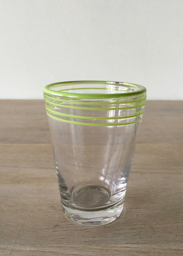 Lime Swirl Juice Glasses S/4