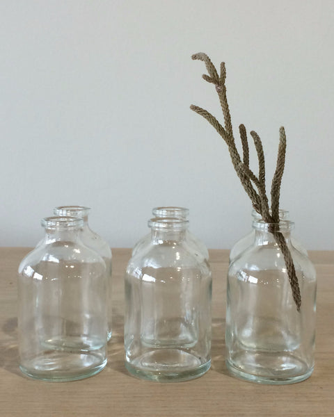 Lostine vintage tiny glass bottles