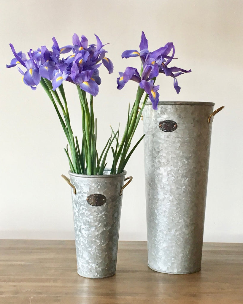 Lostine Orla Flower Bucket Galvanized medium and large