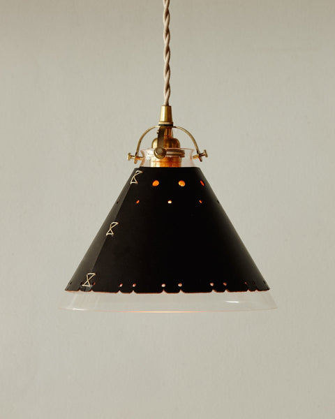 Lostine by Robert Ogden leather and glass stella pendant light