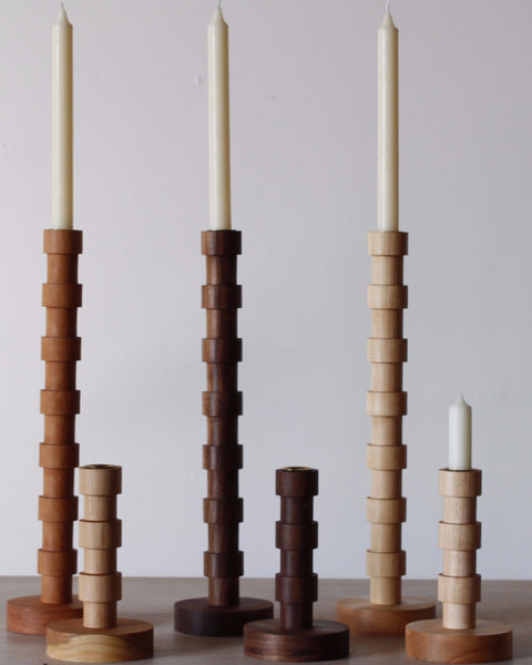 Lositne Franc Wooden Candle Holders modern