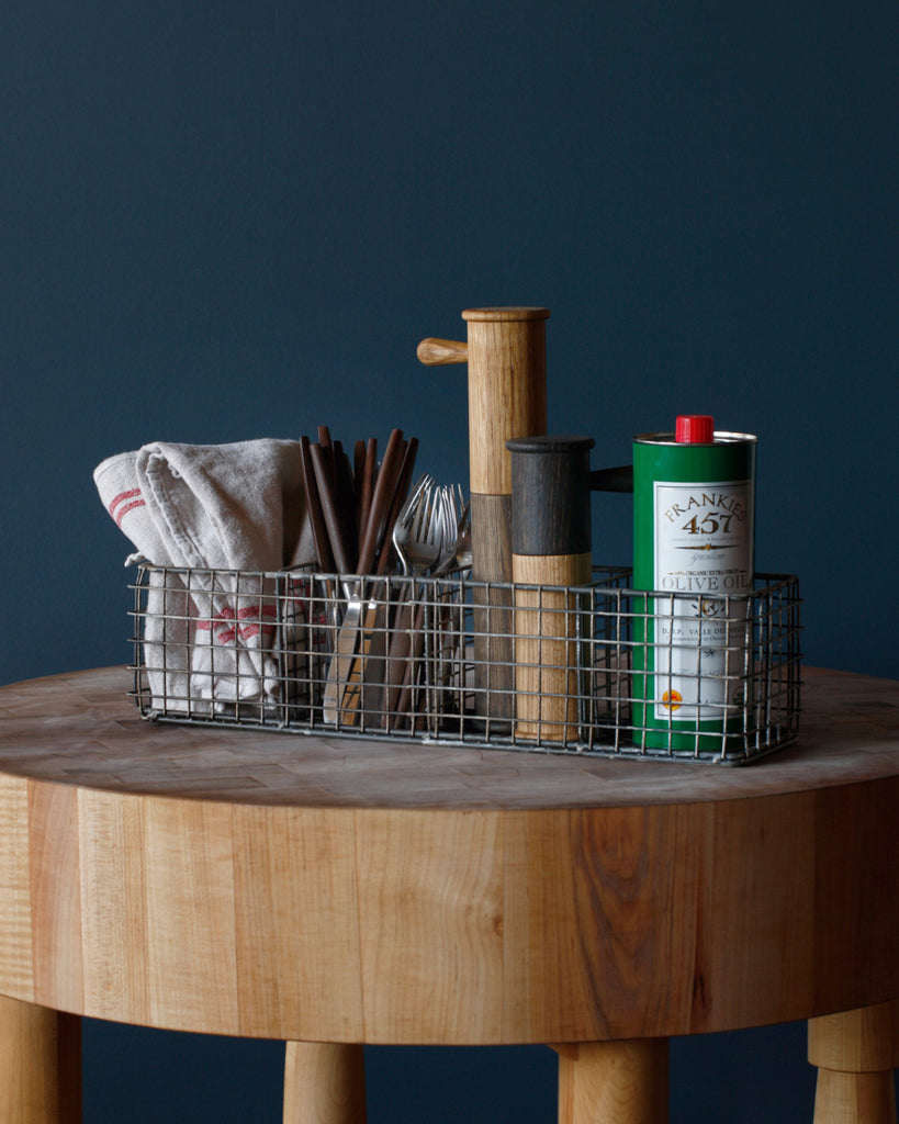 Lostine wire compartment basket for kitchen - styled