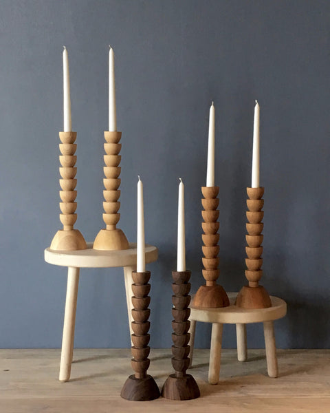 Lostine Albert Candle holders with beeswax candles gift