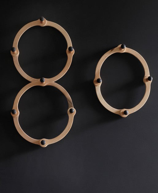"Lostine double and single ""occordian"" wall coat rack"