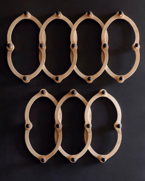 "Lostine triple ""occordian""wall coat rack"