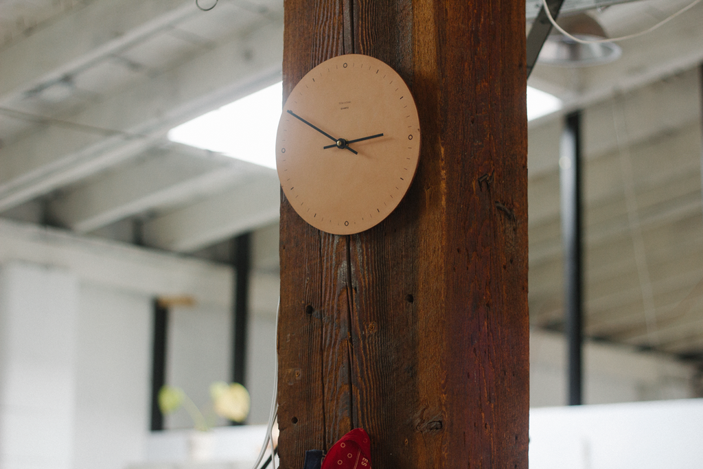 Nº001 - Leather Wall Clock