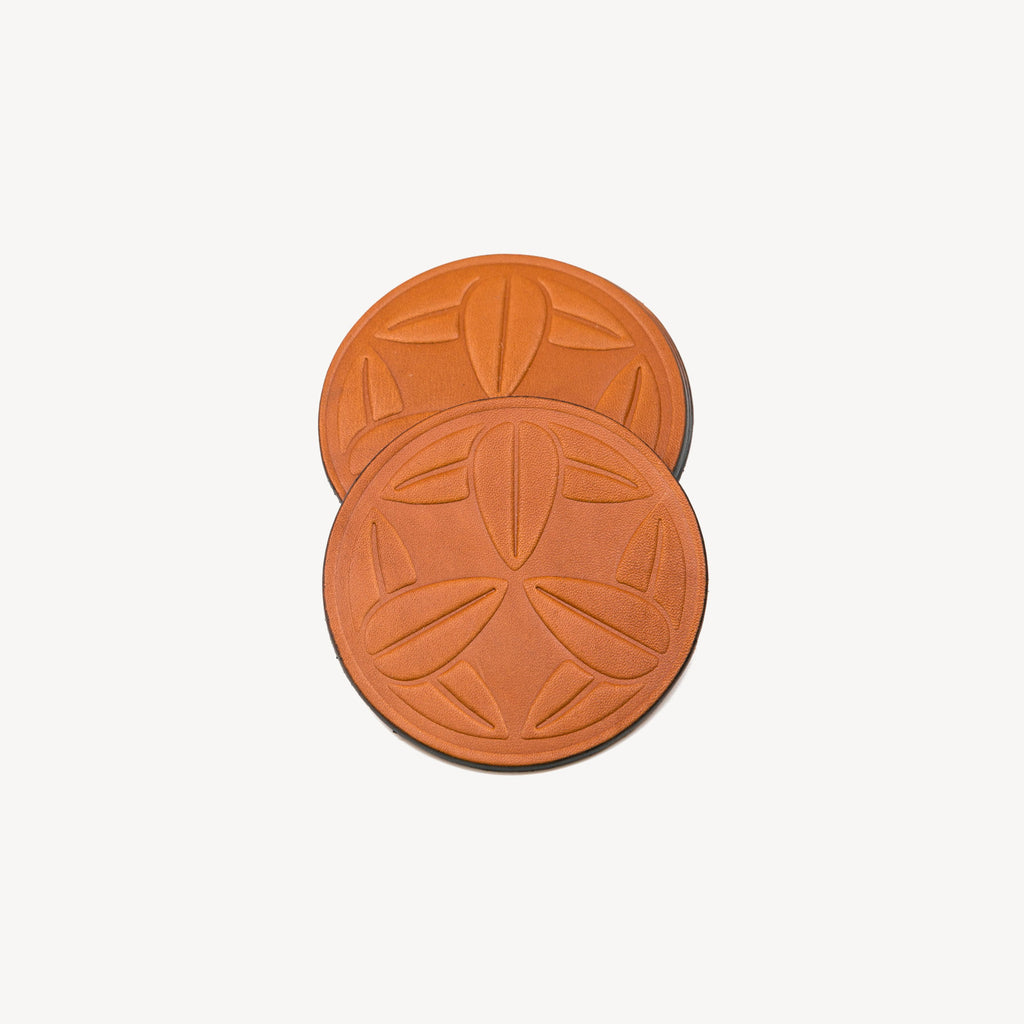 Logo Coaster | Saddle Tan