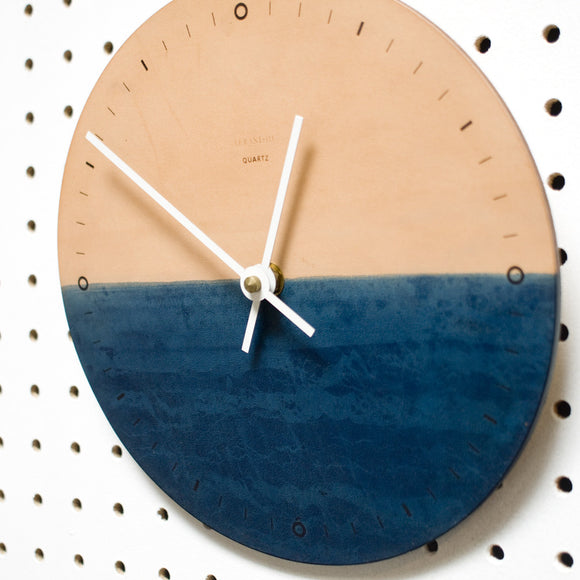 Nº006 - Indigo Horizon Wall Clock