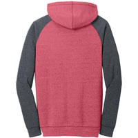 New markdown! District Young Mens Lightweight Fleece Raglan Hoodie