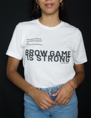"""BrowGameStrong"" tee"